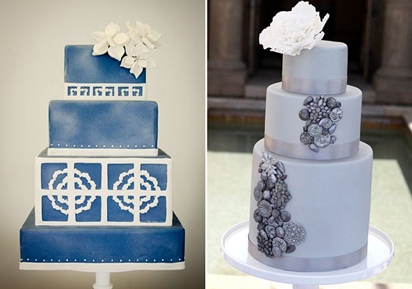 Hochzeitstorte Vintage blau
