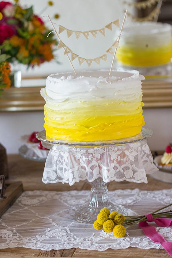 Hochzeitstorte gelb (3)