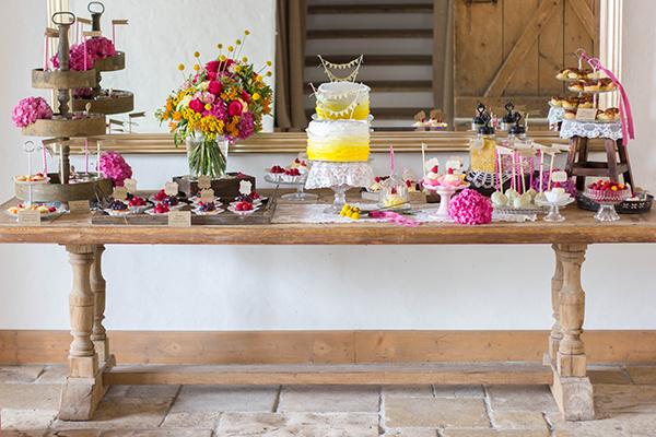 Hochzeitstorte gelb (7)