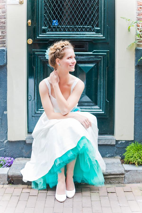 Brautkleid mit Tuellrock