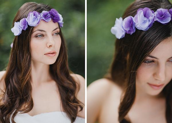 Blumenkranz Braut lila