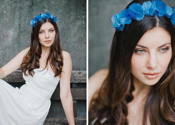 Blumenkranz blau