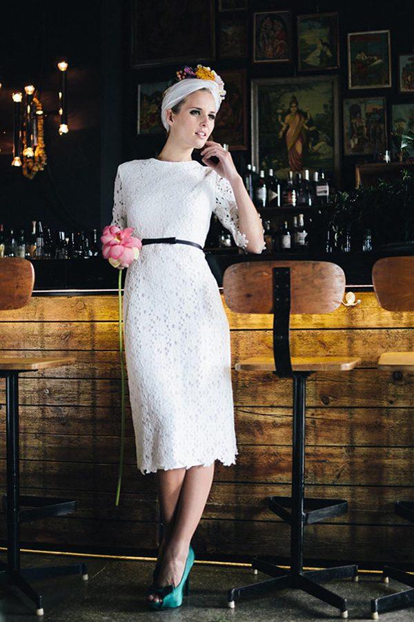 Brautkleid kurz Spitze(5)