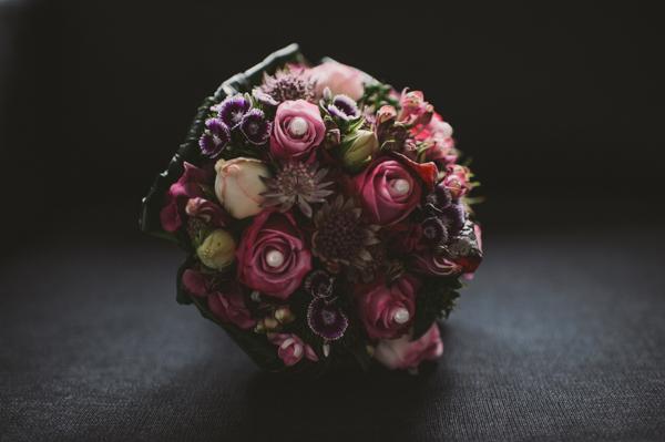 Brautstrauss Vintage lila