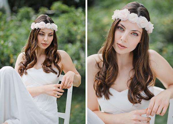 Haarkranz weiß Blumen