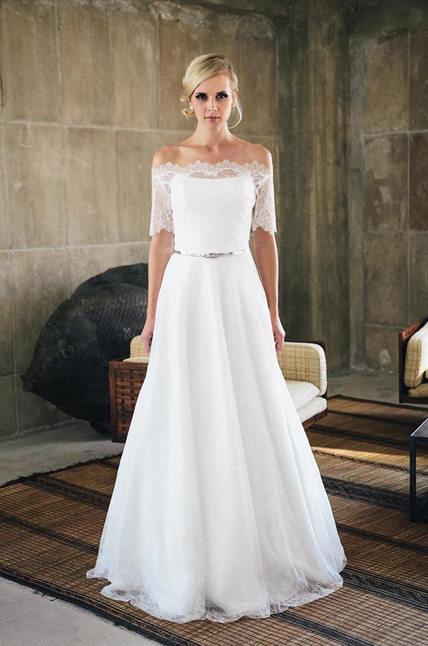 Brautkleid freie schultern