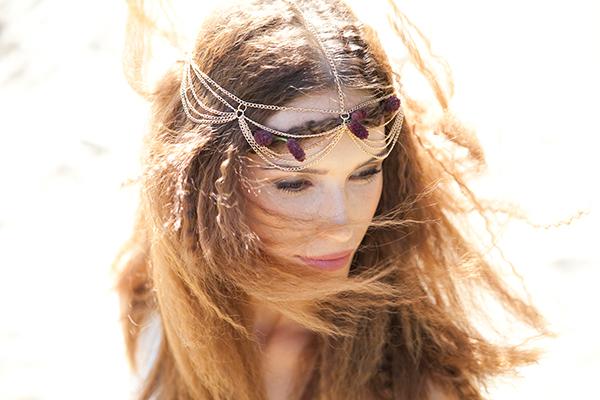 Haarkette braut Hippie