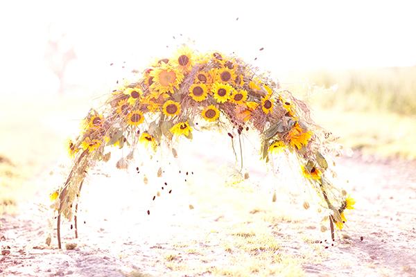 blumenbogen Hochzeit Sonnenblumen