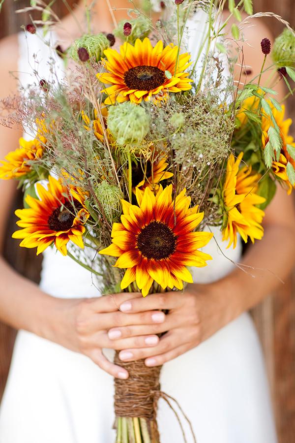 brautstrauss sonnenblumen