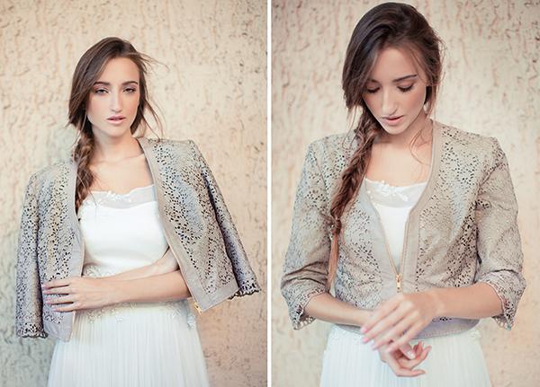 Brautkleid und Lederjacke von Modebloggerin Leandra Medine
