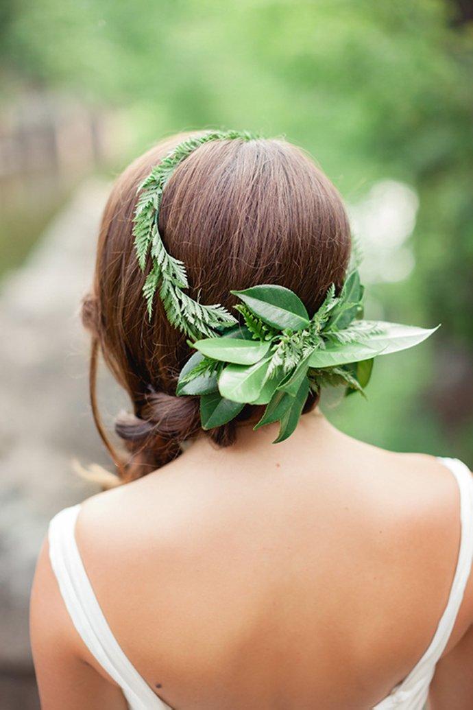 Blumenkranz Braut Hippie