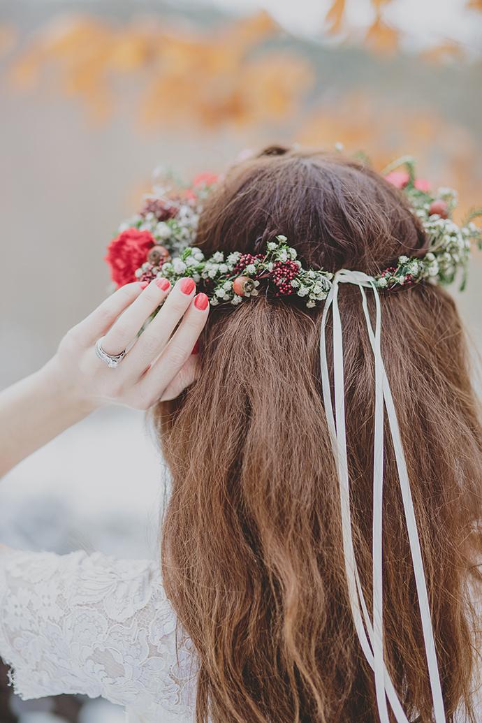 Blumenkranz Braut rot (10)