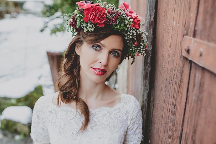 Blumenkranz Braut rot (20)