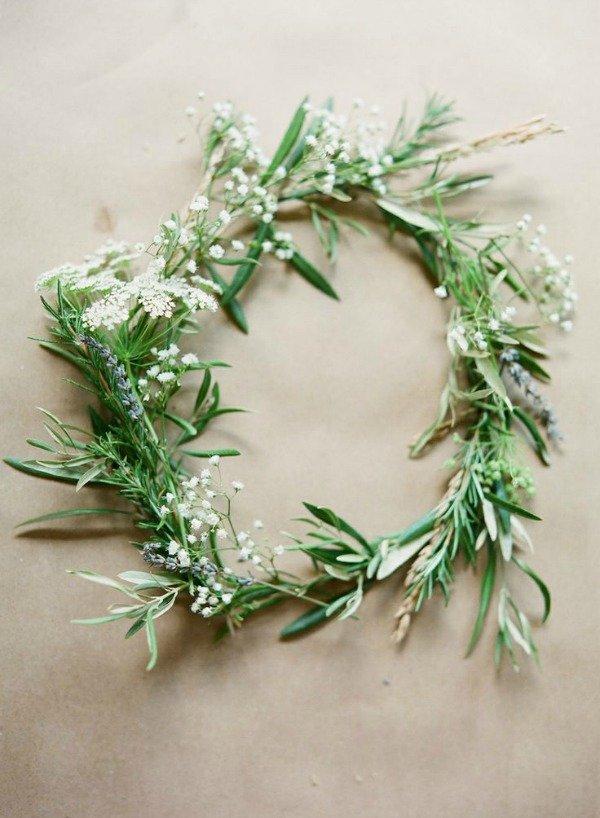 Blumenkranz gruen Braut