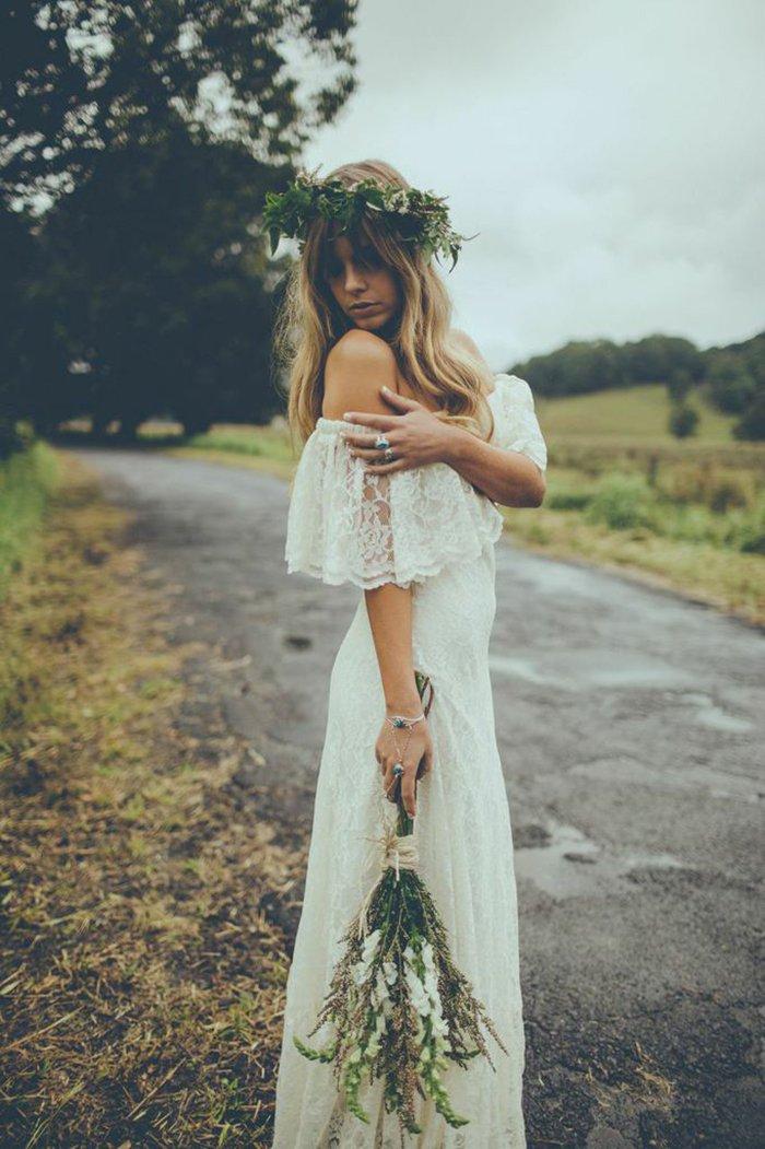 Brautkleid Hippie Stil