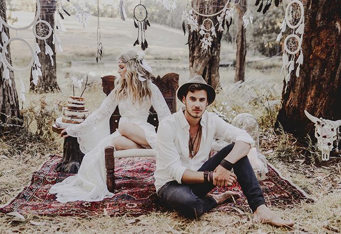 Hippie Hochzeit bohemian wedding (17)