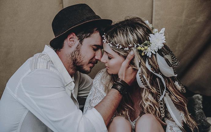 Hippie Hochzeit bohemian wedding (79)