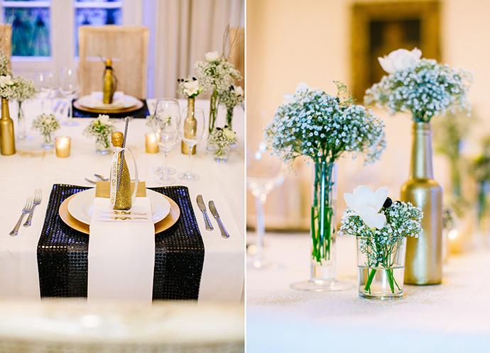 Eine Schwarz Weiss Goldene Inspiration Fur Eine Hochzeit