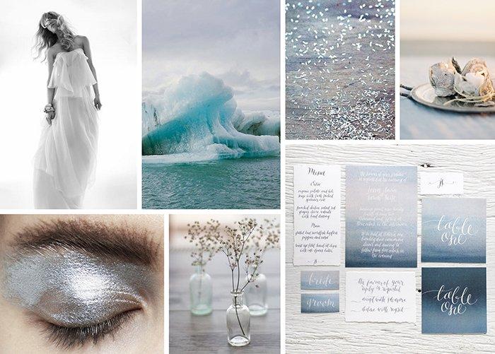 Hochzeit blau grau