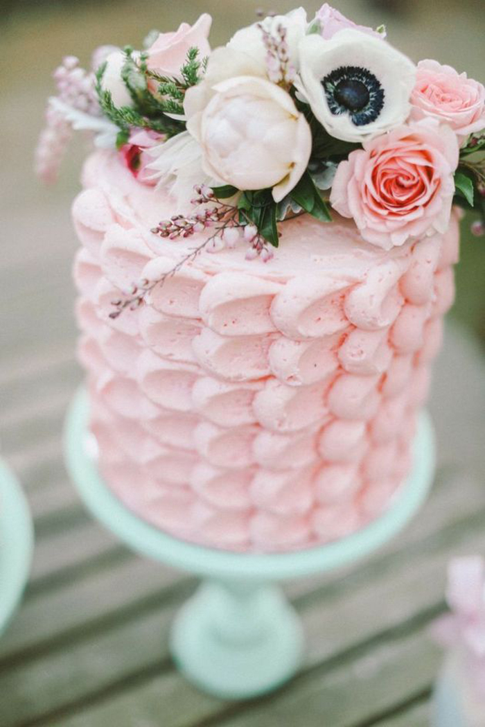 Hochzeitstorte rosa