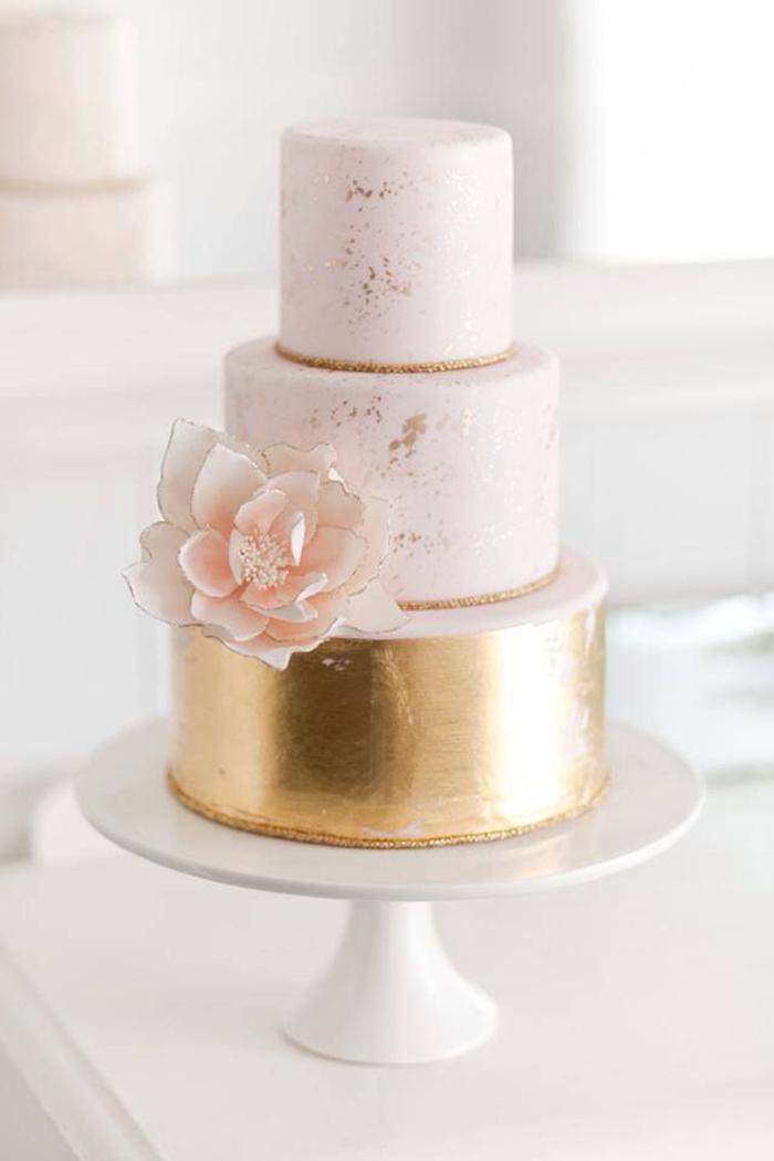 Torte metallic Hochzeit