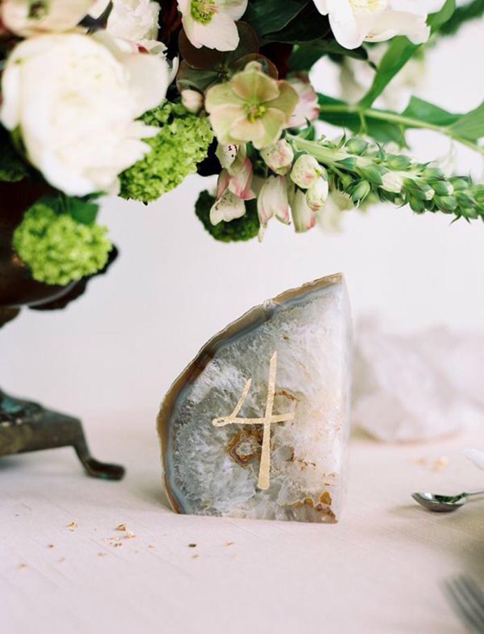 Tischnummer Hochzeit Stein