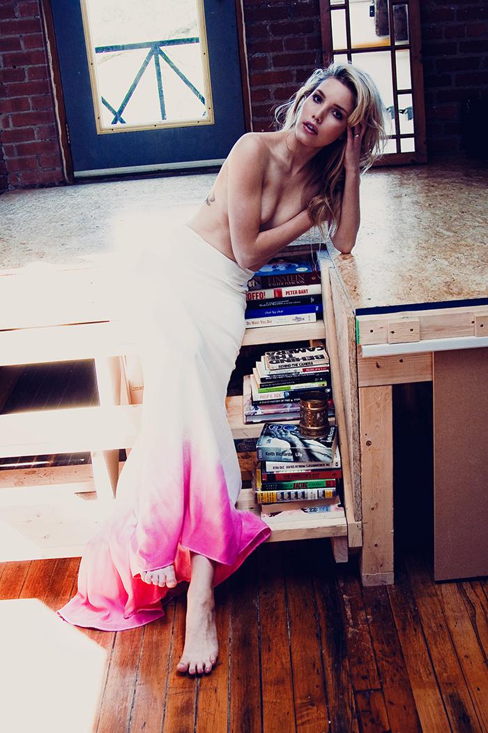 Brautkleid pink Batik (4)