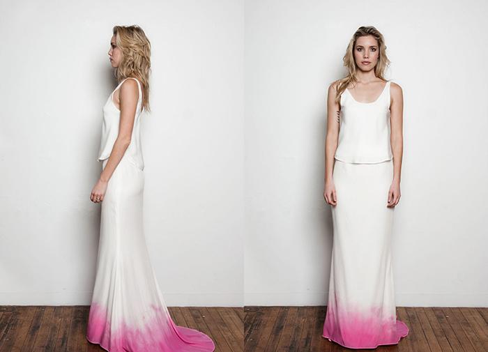 Brautkleid pink Batik (5)