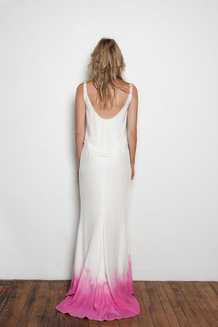 Brautkleid pink Batik (8)