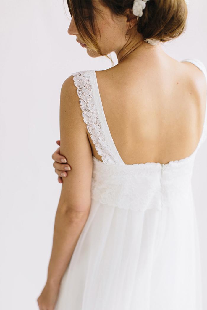 Brautkleid tiefer Ruecken