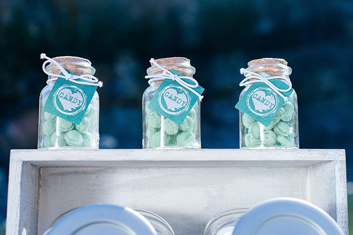 Ein Hochzeitskonzept in Grün Blau  Friedatheres.com
