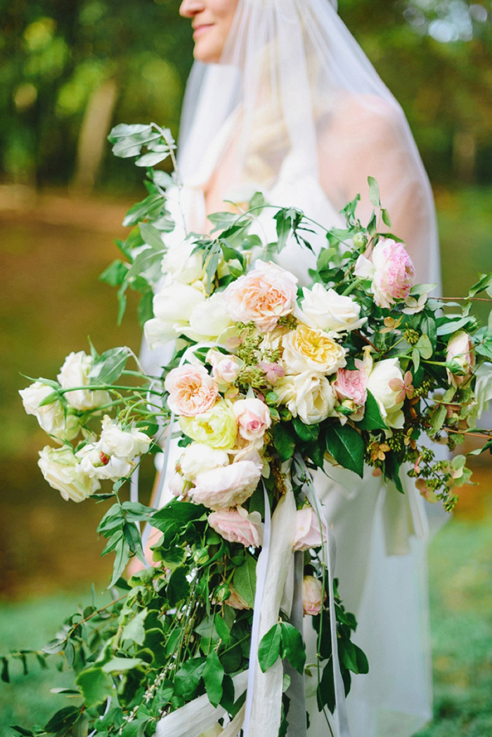 giant bridal bouquet