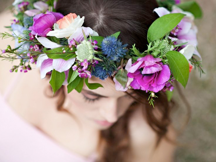 Blumenkranz Braut Lila (1)