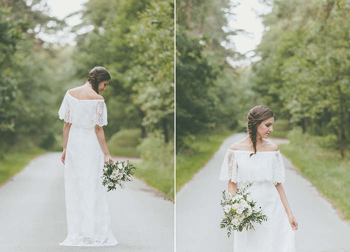 Brautkleid viel Spitze