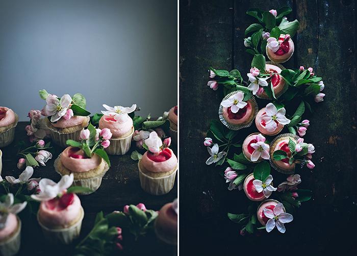 Cupcake mit Blumen