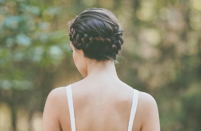 Haarkranz geflochten