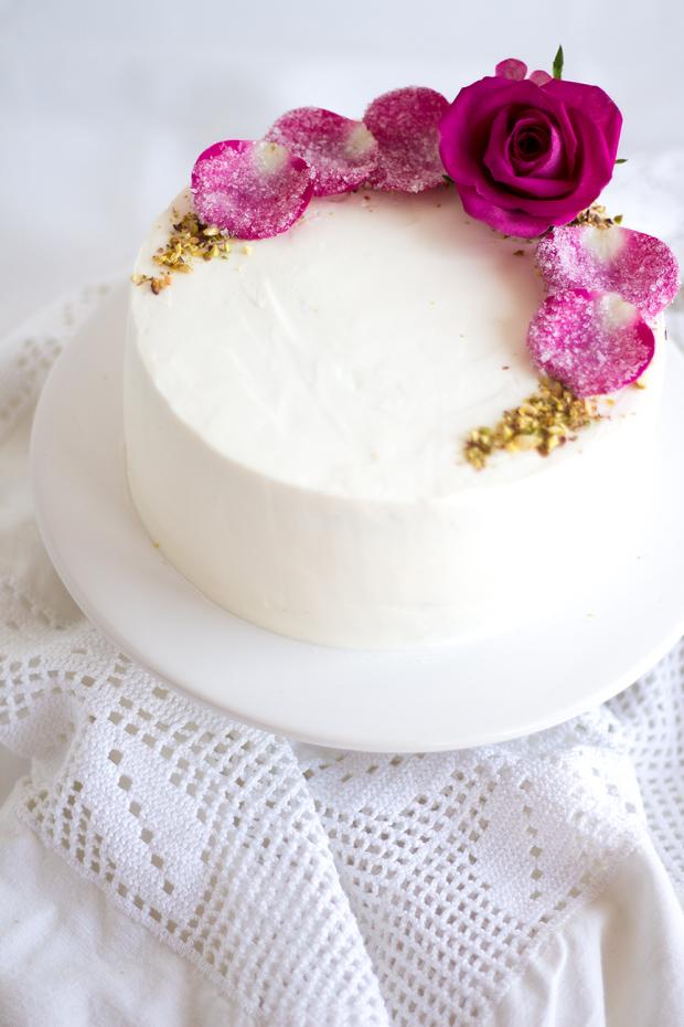 Torte pinke Rosen