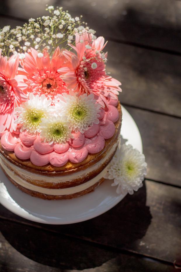 Torte rosa Blumen