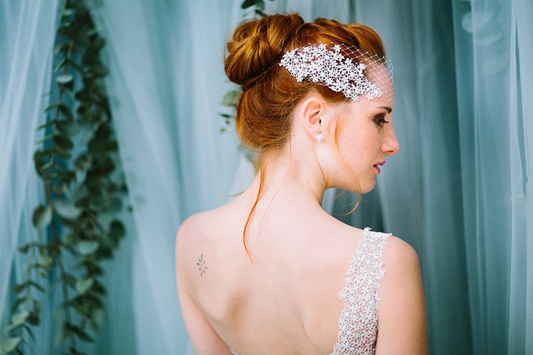 Braut mit roten Haaren