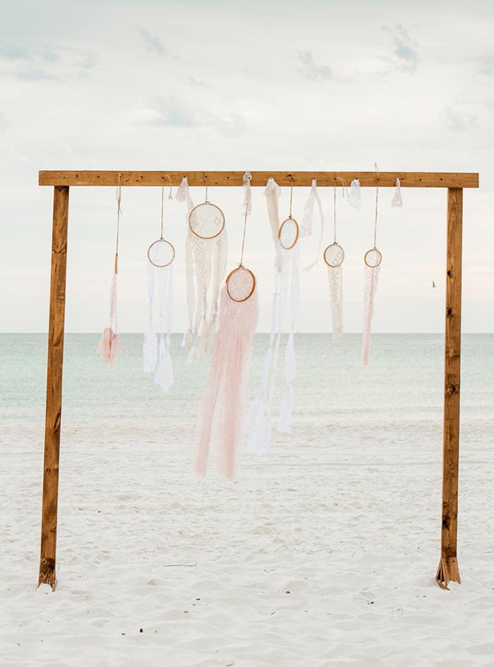 Backdrop Hochzeit am Strand