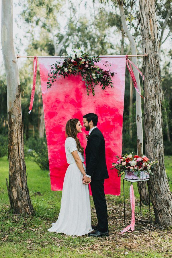 Backdrop pink Hochzeit