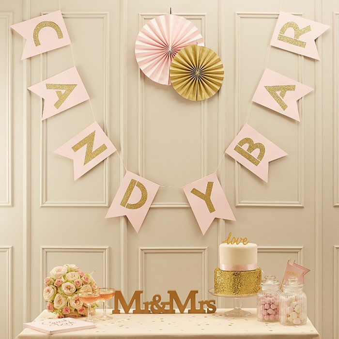 Candy-Bar-Girlande-Gold-und-rose