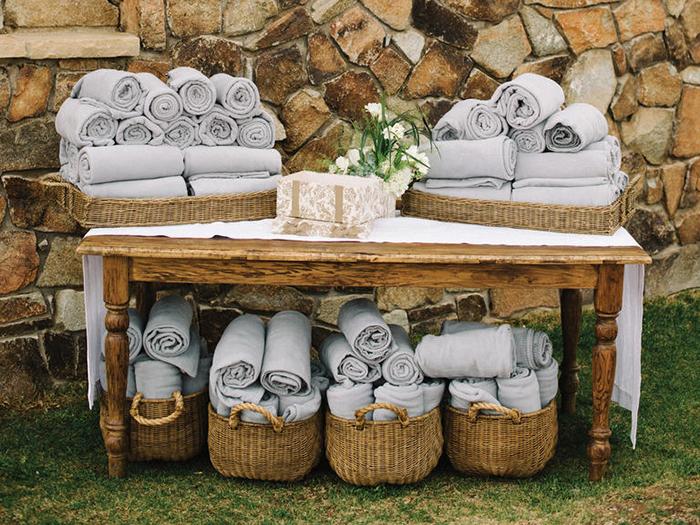 Decken fuer die Hochzeit