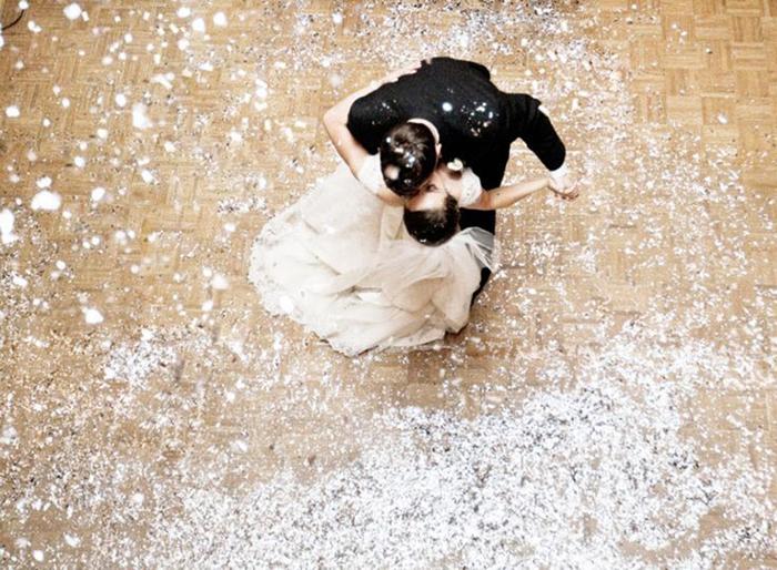 Glitzer Hochzeit