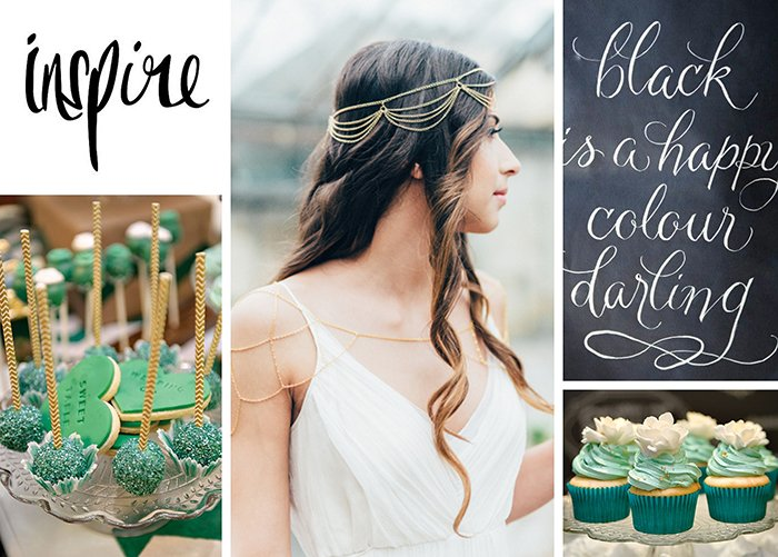 green gold wedding