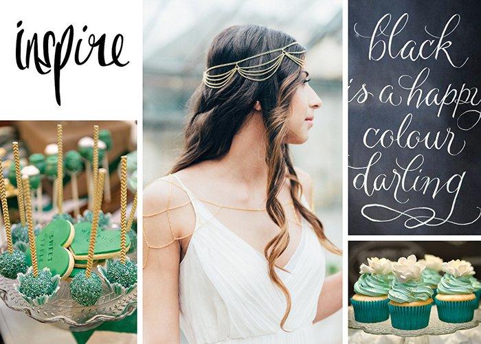 green gold wedding
