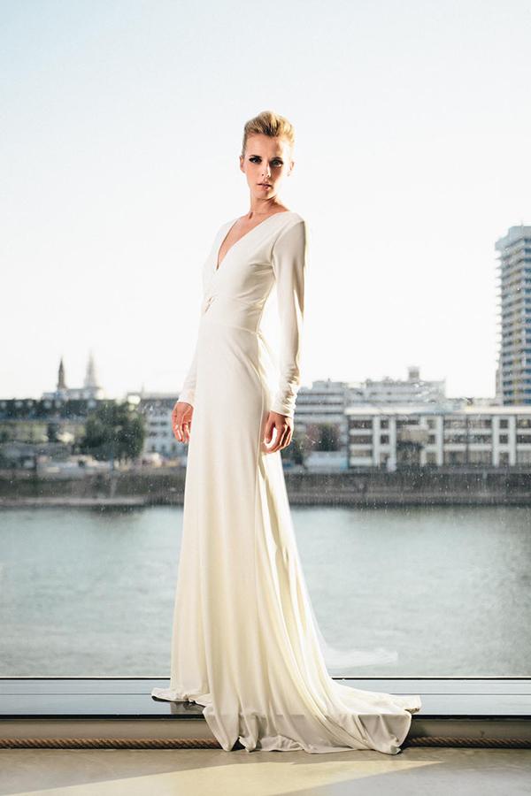 Ausgezeichnet Weißer Langer ärmel Brautkleid Bilder - Brautkleider ...