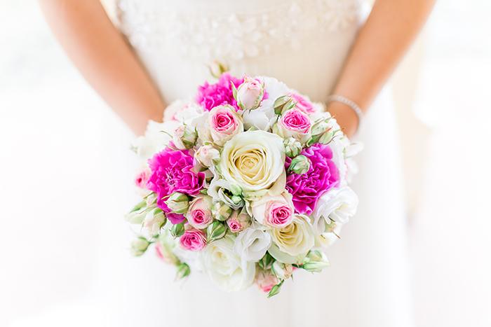 Brautstrauss rosen pink