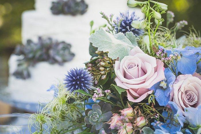Ideen Fur Eine Blaue Hochzeitsdeko Friedatheres Com