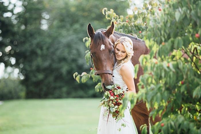 Braut mit Pferd (11)